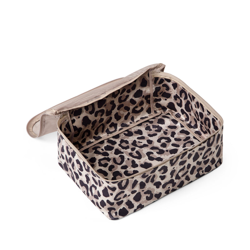 packing cube leopard print