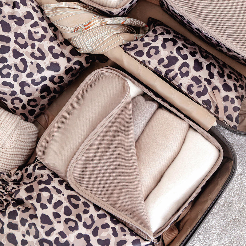 Packing Cube Set of 3 Leopard