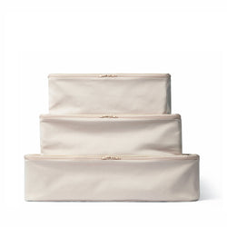 beige packing cubes