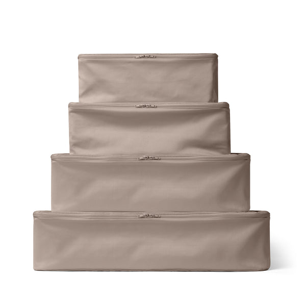 PACKING CUBE SET OF 4 TAUPE