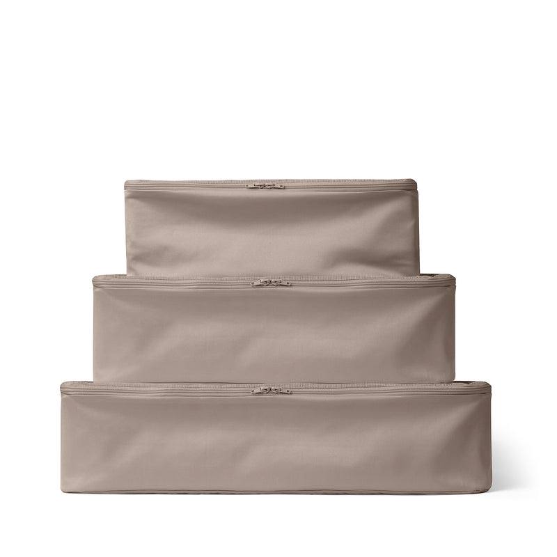 Packing Cube Set of 3 Taupe