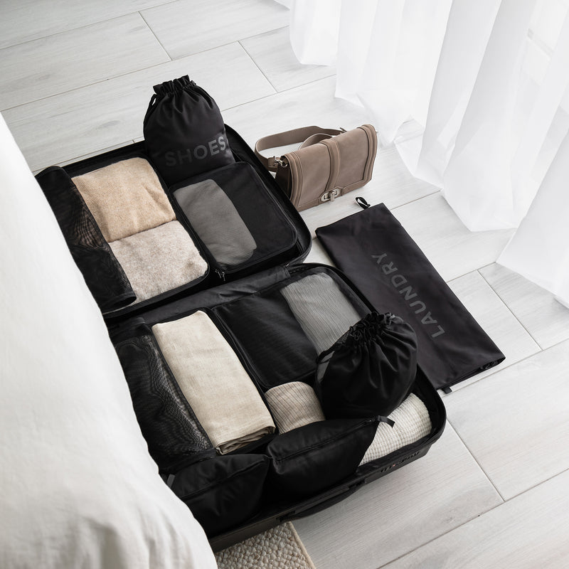 packing organizer cubes black
