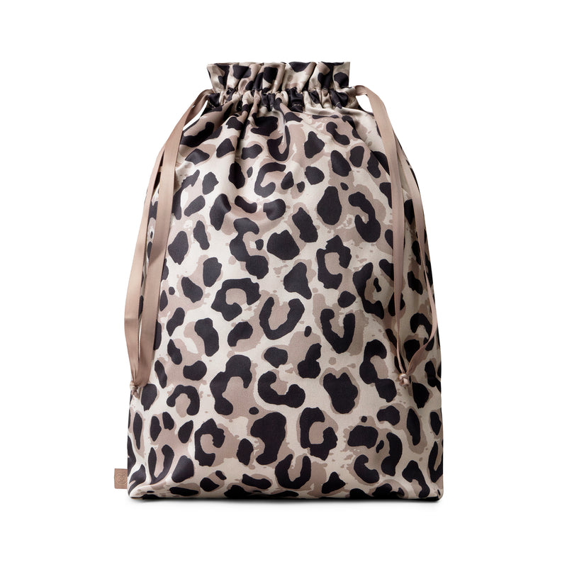 shoe bag for packing suitcase leopard