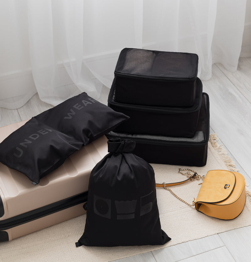 packing cubes set black