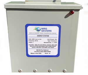 NRG Savers Three Phase Capacitor Bank for Commercial Businesses