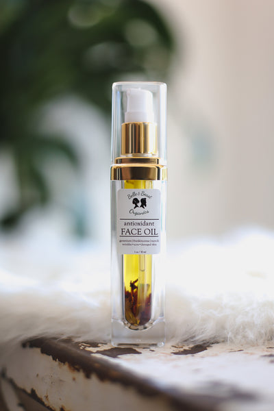 How to combat collagen damage from air pollution or wild fire smoke. Use antioxidant face oil! A tip from Belle & Beast Organics