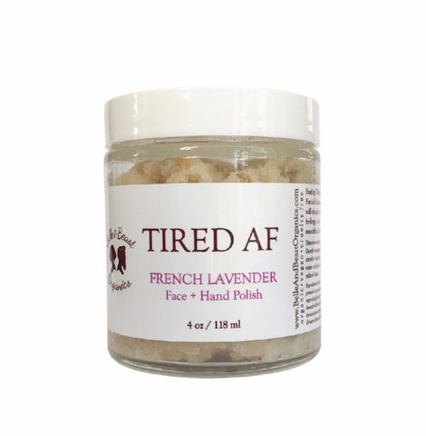 Tired AF | French Lavender Face + Hand Polish