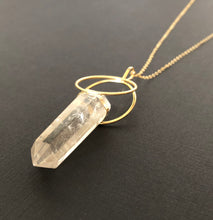 Double Hoop Smokey Quartz Necklace