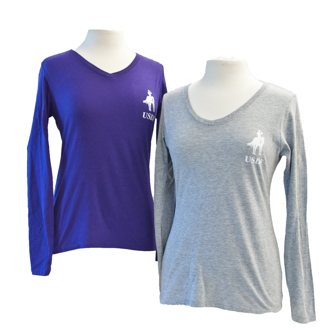 USDF Ladies Long Sleeve Shirt