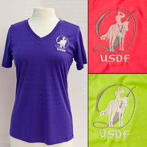 USDF Women's Short Sleeve Athletic Tee