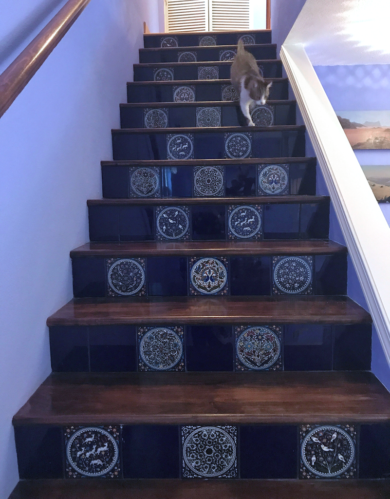 Staircase with Palestinian tile work