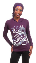 Women's Freedom and Justice hoodie in plum