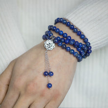 Faith Arabic calligraphy prayer beads: lapis lazuli tasbih