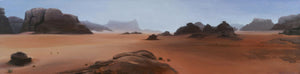 "Wadi Rum 12"" x 48"" Giclée Stretched Canvas Print"