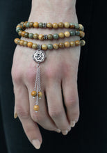 Faith Arabic calligraphy prayer beads: wild horse jasper tasbih