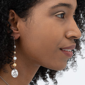Pearls of Wisdom Arabic Earrings - Spring