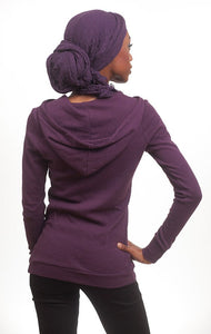 Women's Global Intifada hoodie in plum