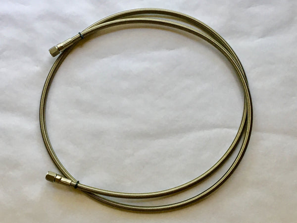 "1/2"" 37° Swivel Female JIC SS304 Hose PTFE Lined 36"" 48"" 60"" 72"""