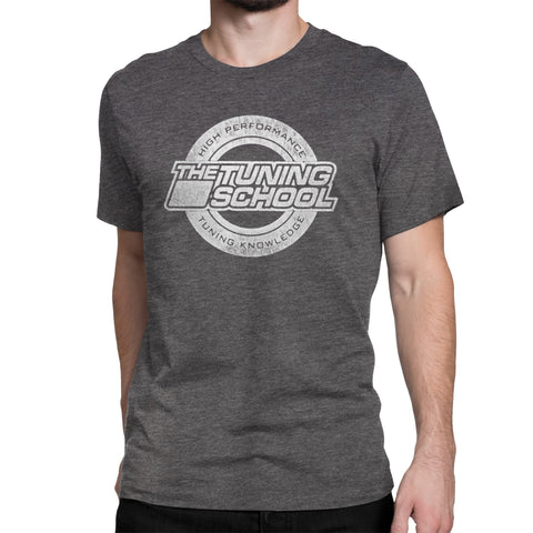 TTS Distressed Logo T-shirt - Heather Gray