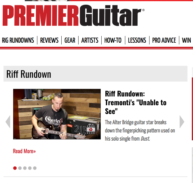 "Premier Guitar Riff Rundown: Tremonti's ""Unable to See"""