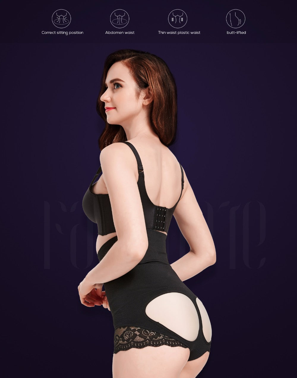 Body Shaper Butt Lifter Panties With High Waist Sim Tummy Control Waist Trainer Corset