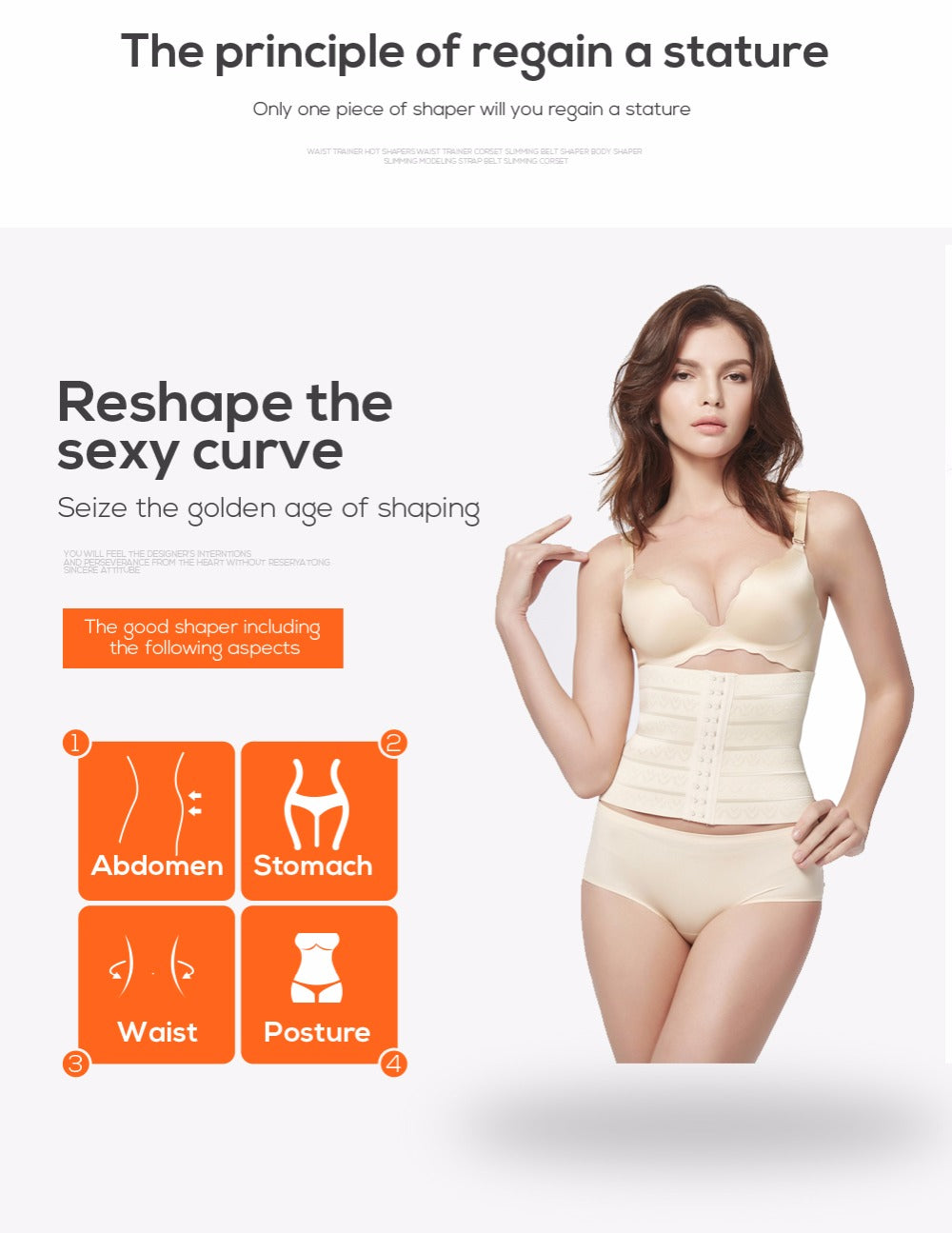 Body Shaper Corset Waist Trainer Tummy Slimming Shapewear Underwear For Women