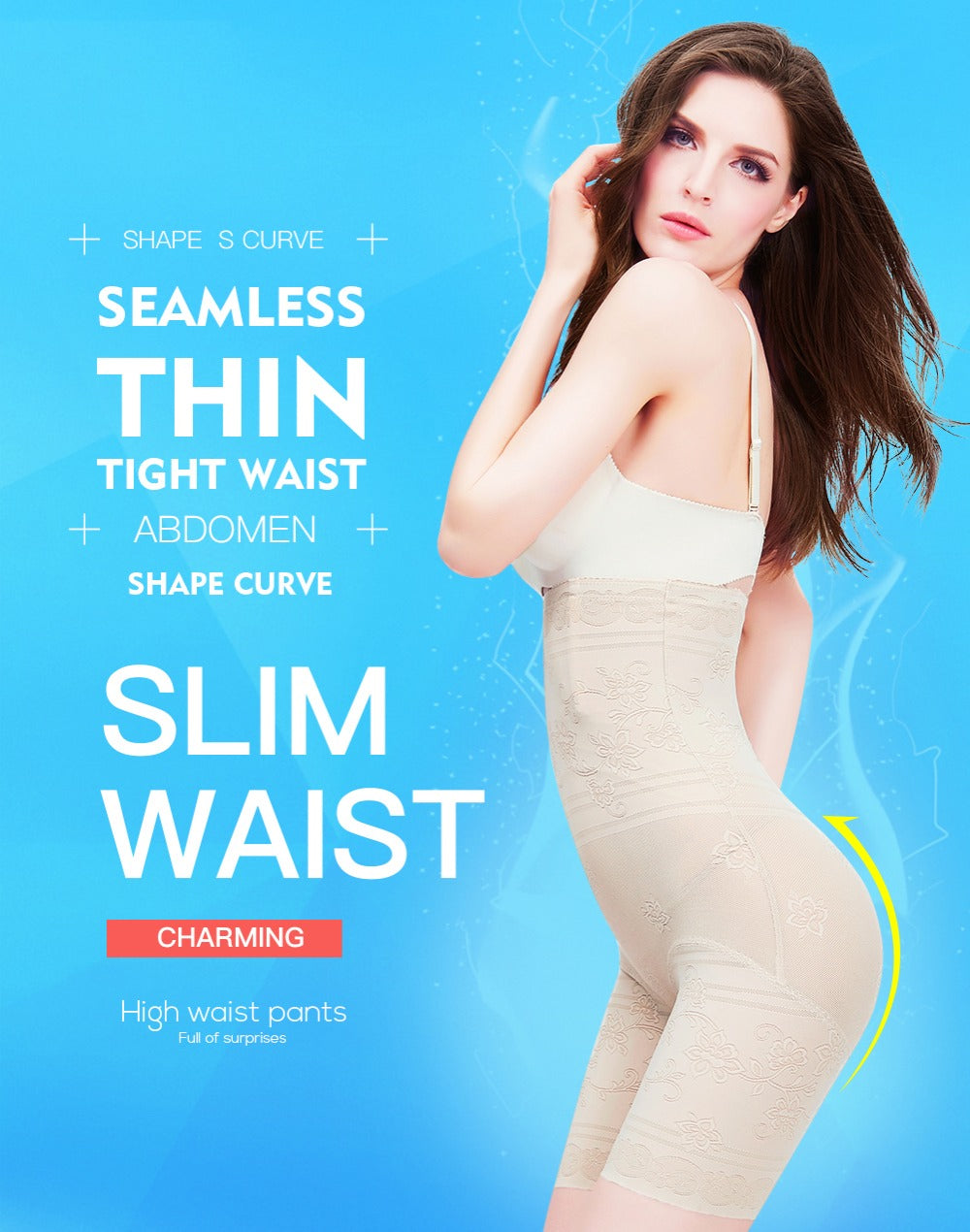 Body Shaper Shapewear Waist Trainer Slimming Briefs Shapewear Bodysuit Butt Lifter Bellly Slimming Control Pants For Women
