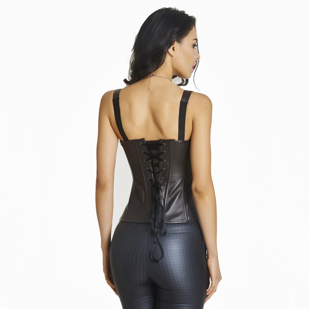 Body Shaper Waist Trainer Corset Leather Gothic Style Sexy Slimming Shapewear Lingerie Corset Bustier