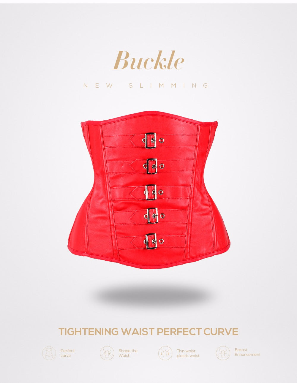 Body Shaper Waist Trainer Corset Leather Bustier Gothic Burlesque Slimming Body Shaper Bustier
