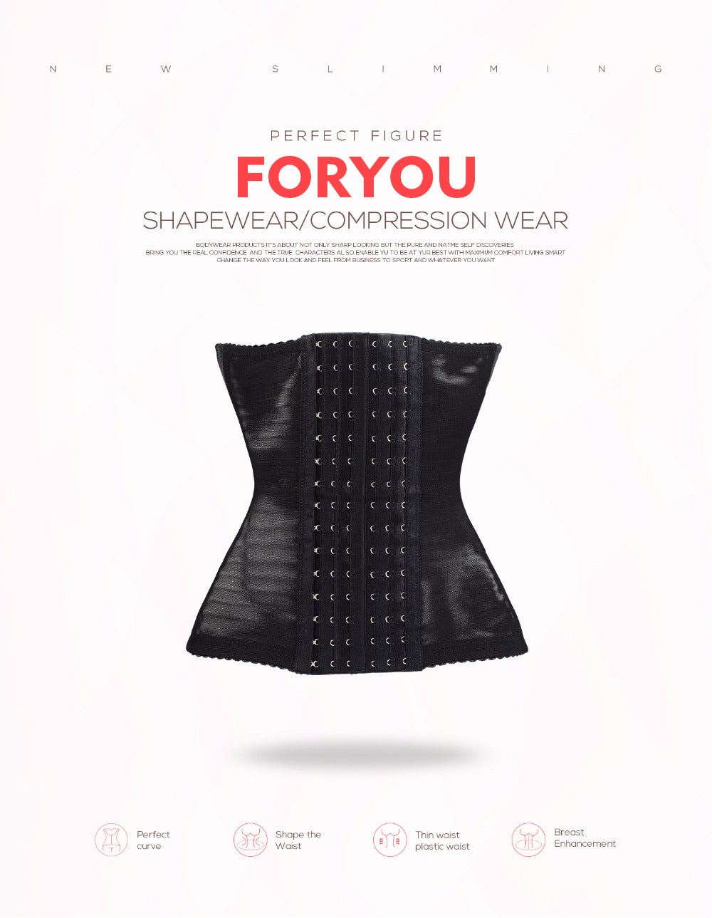 Body Shaper Waist Trainer Corset Steel Boned Gothic Style Party Wear Sexy Shapewear Corselet