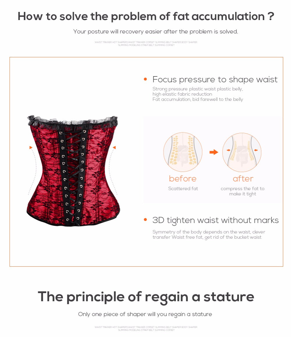 Burlesque Body Shaper Corselet Waist Trainer Gothic Corset Slimming Clothing Sexy Lingerie Party Wear Corsets and Bustiers For Women