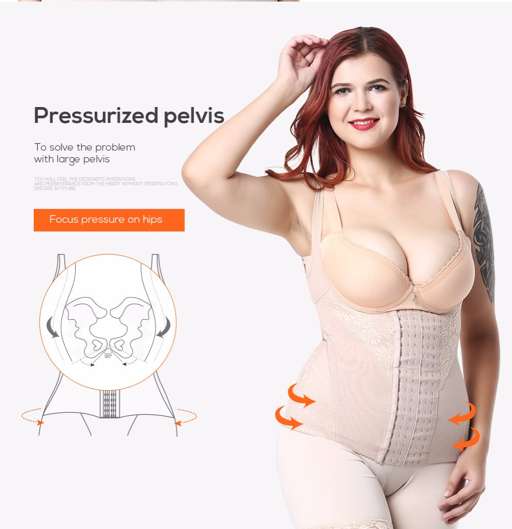 Women's Plus Sized Waist Trainer Body Shaper Corset Sexy Shapewear Lingerie