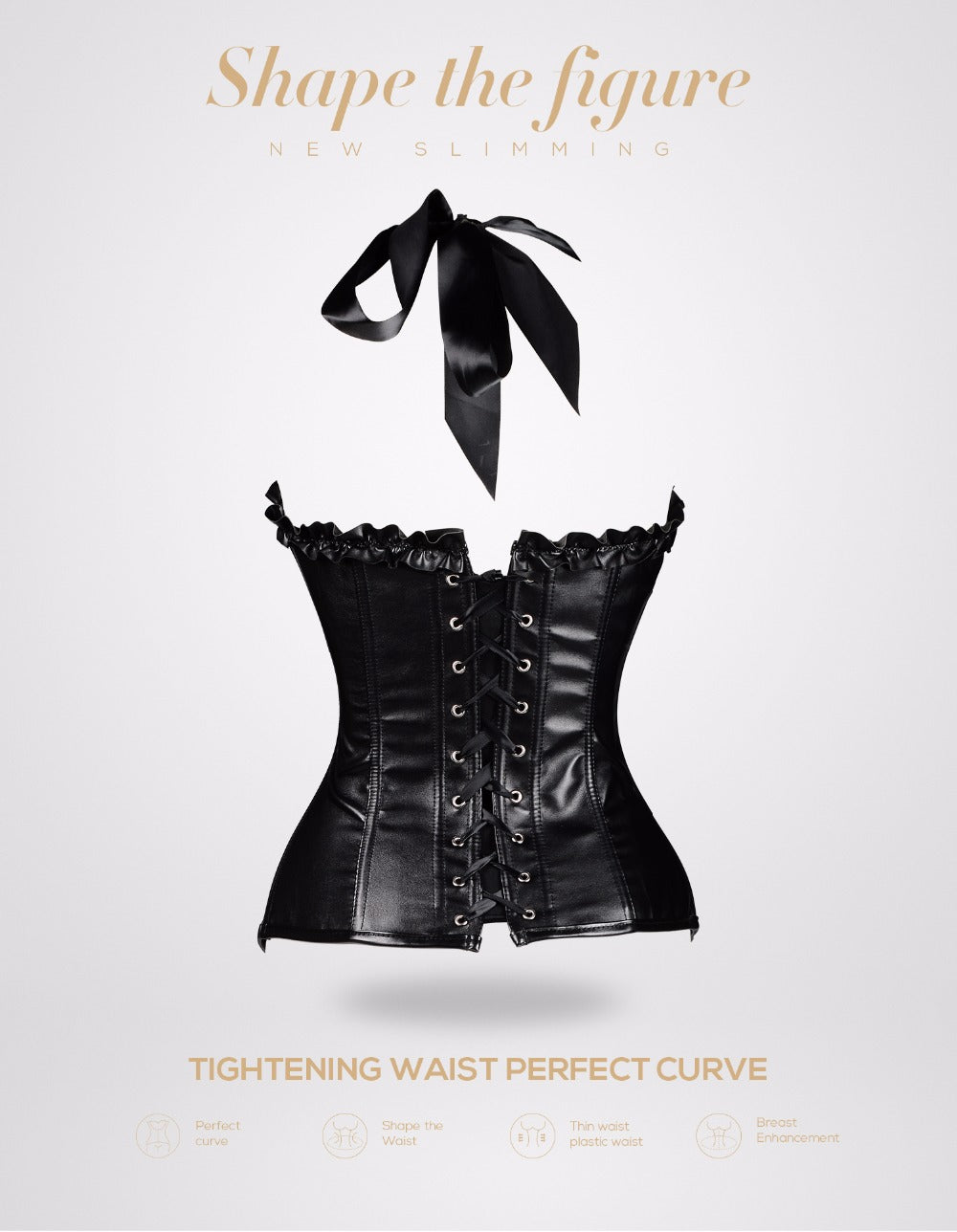 Leather Corset Shapewear Waist Trainer Steampunk Gothic Burlesque Corset Sexy Party Clothing Corsets Bustiers For Women