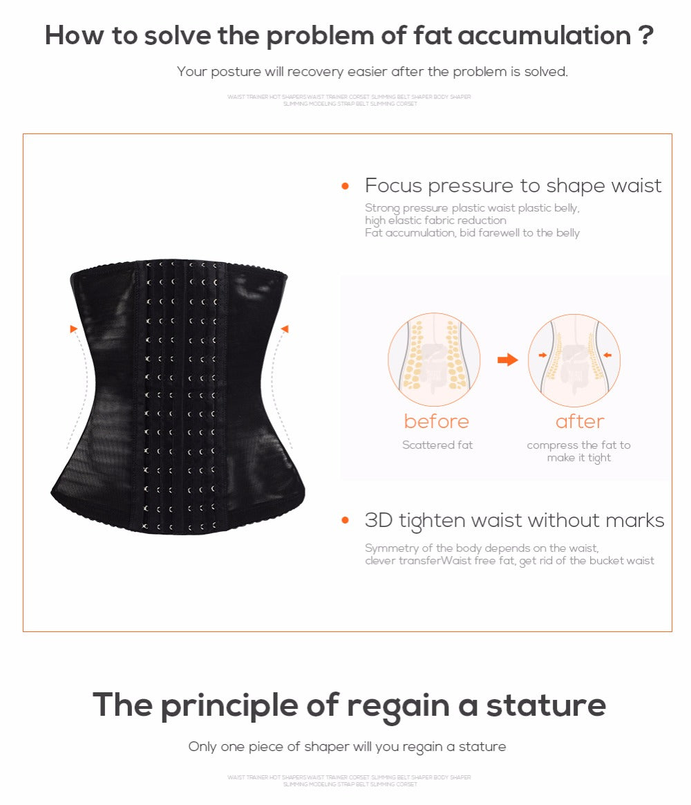 Plus Size Corset Body Shaper Waist Trainer Slimming Corset Shapewear for Women