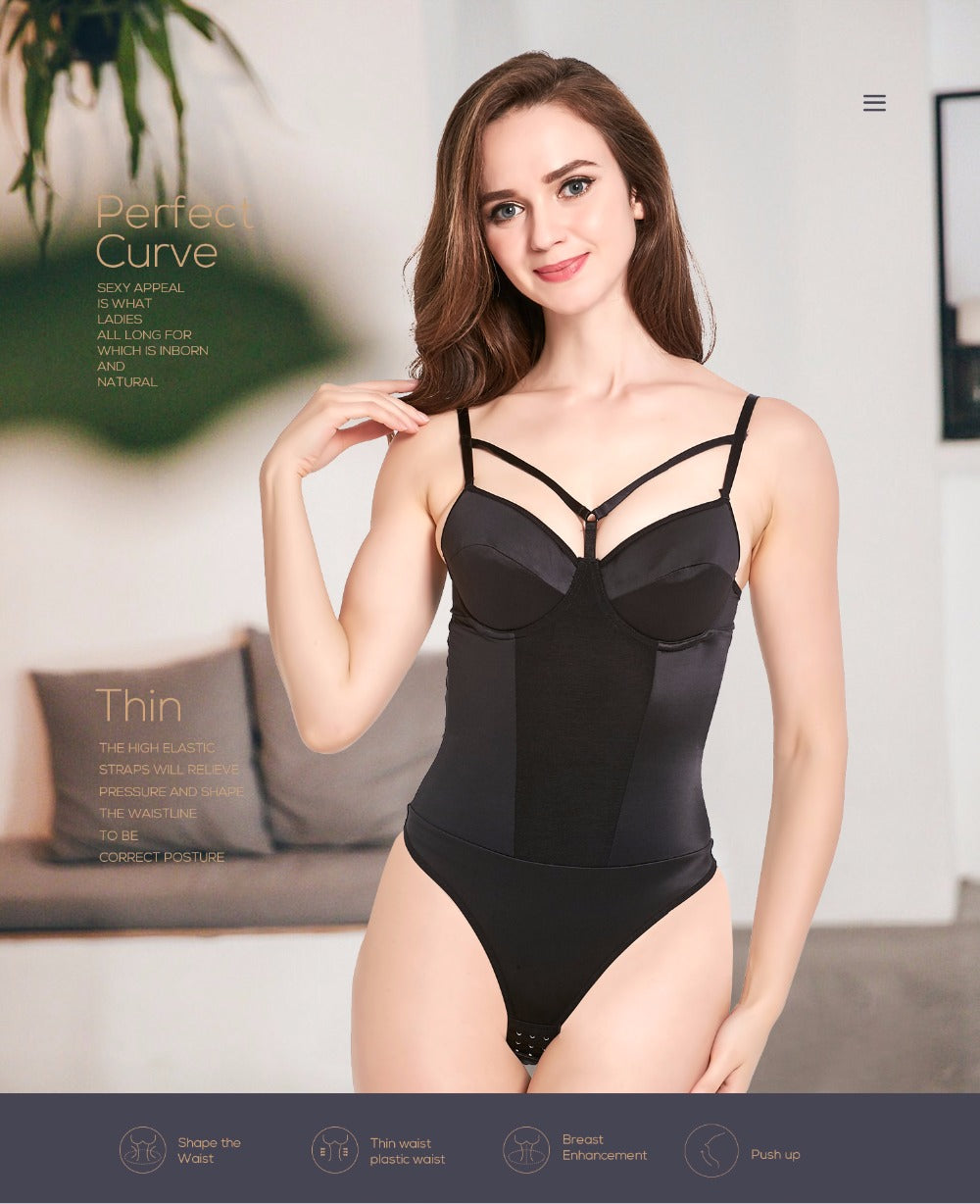 Slimming Bodysuit Body Shaper Waist Trainer Corset Shapewear Lingerie For Women