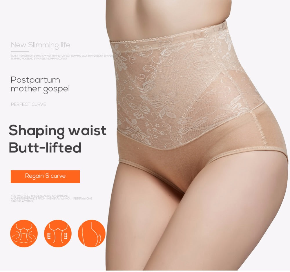 Women's Waist Control Pants Slimming Underwear Waist Trainer Butt Lifter Shapewear For Women