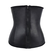 Latex Corset Clip And Zip Waist Cincher Plus Size Sexy Body Shaper Shapewear Lingerie Corset