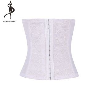 Black Women's Training Elastic Waist Trainer Cincher Firm Compression Shapewear Lace Corset Belt 884#