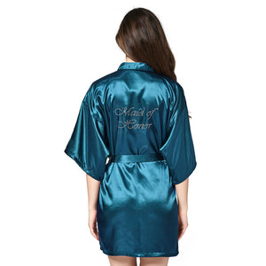 Bridal Bathrobe Night Dress Dressing Gown Robe Wedding Bride Sleepwear Nightwear For Women