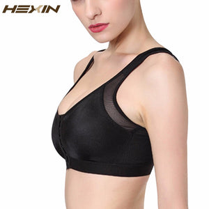 HEXIN Sexy Bra Vest For Women Push Up Bra Three Hook-and-eye Bras Plus Size Top Women Padded Top Fitness Bra