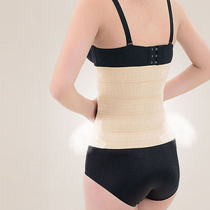 Latex Rubber Waist Body Corset Body Shaper Abdominal Belt BK/L