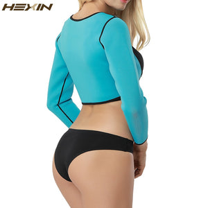 HEXIN Sauna Sweat Arm Compression Vest With Posture Corrector Slimming Control Girdle Arm Shapewear Neoprene Arm Shapers