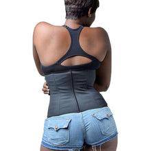 Women Plus Size 100% Latex Waist Trainer Body Shaper Corsets With Zipper Hot Shapers Cincher Corset Slimming Belt Black S-6XL