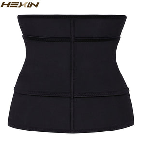 HEXIN Clip and Zip 100% Latex Waist Cincher Corset Underbust Body Shaper Fajas Waist Trainer Abdominal Belt Plus Size