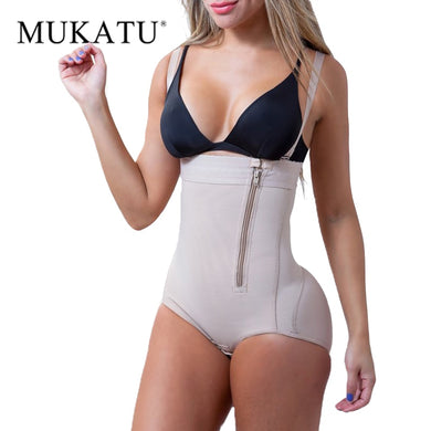 Plus Size Latex Women's Body Shaper Slimming Underwear Post Liposuction Girdle Clip Bodysuit Waist Shaper Reductoras Shapewear