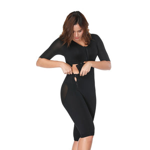 Fajas Colombianas Post-Surgery Full Body Arm Shaper Body Suit Powernet Girdle Black Waist Trainer Corsets Slimming Shapewear