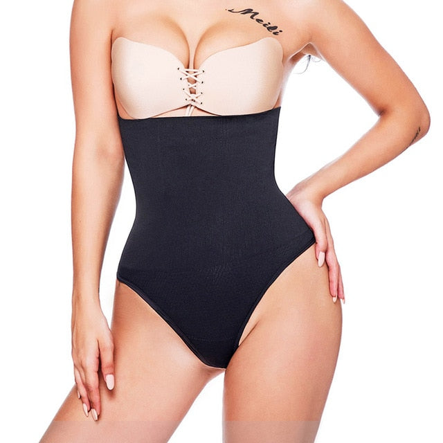 Miss Moly Women Shapewear High Waist Tummy Control Body Shaper Seamless Underwear Thong Panties Slimming Girdle Bodysuit Corset