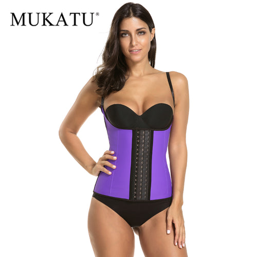 Rubber Waist Cincher Hot Body Shapers 9 Steel Bone Corset Slimming Vest Latex Waist Trainer Plus Size Girdle Belt
