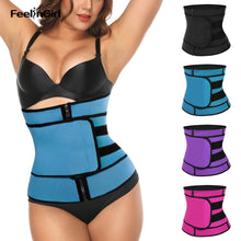 Feelingirl Waist Trainer Hot Shaper Neoprene Slimming Belt Shapwear Modeling Strap Corset Zipper Body Shaper