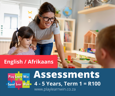 Assessments 4 - 5 Years First Term (Eng or Afr)